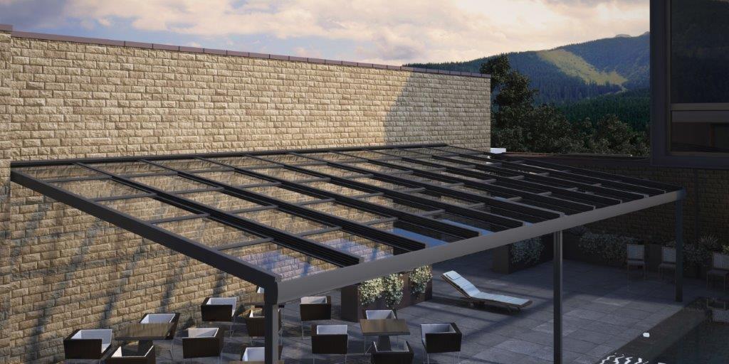 techo de cristal para porches